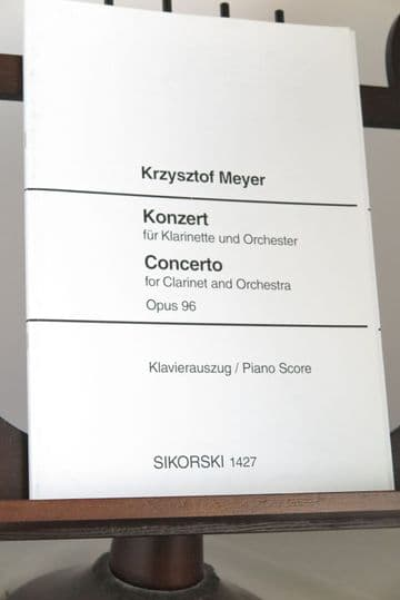 Meyer K - Concerto Op 96 for Clarinet & Piano arr Meyer K